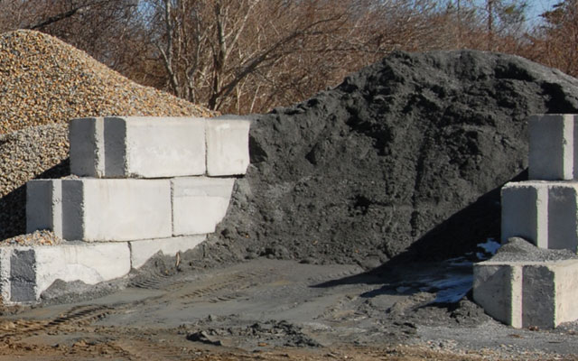ICF Blocks, Brick, Gravel on Nantucket